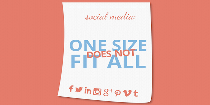 social media: one size does not fit all